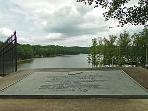Dog River Reservoir with Plaque
